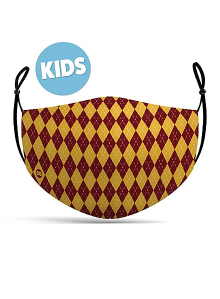 fabric mask for children magic school red