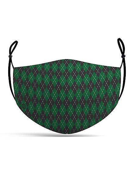 Fabric mask magic school green