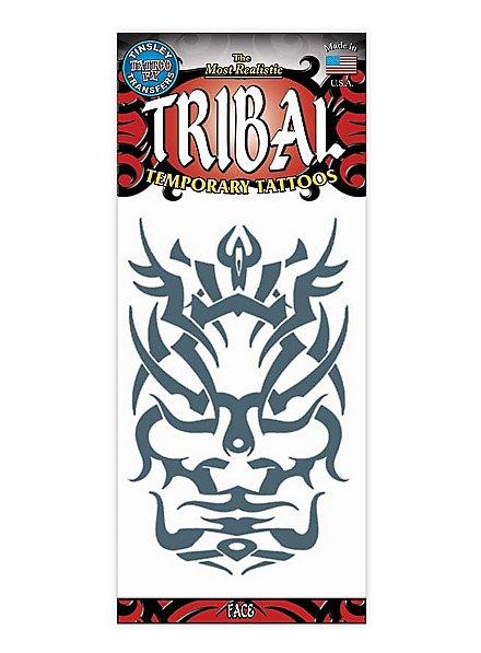 Face Tribal Temporary Tattoo