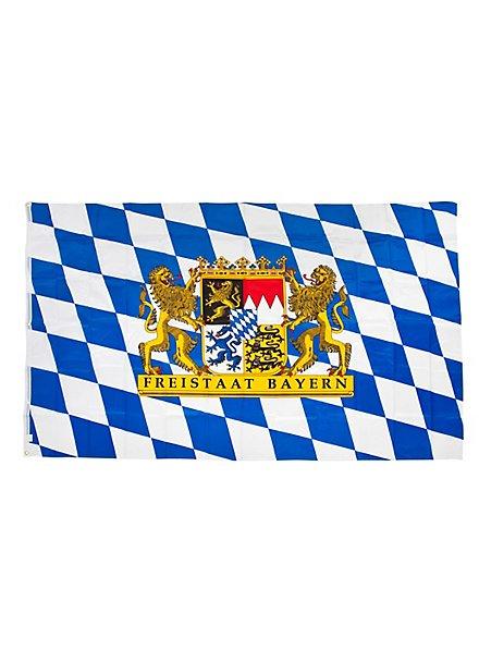 Fahne Freistaat Bayern mit Löwenwappen extra groß