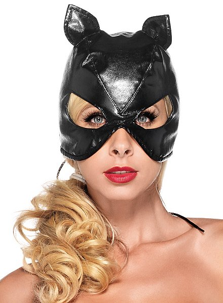 Fake Leather Cat Mask
