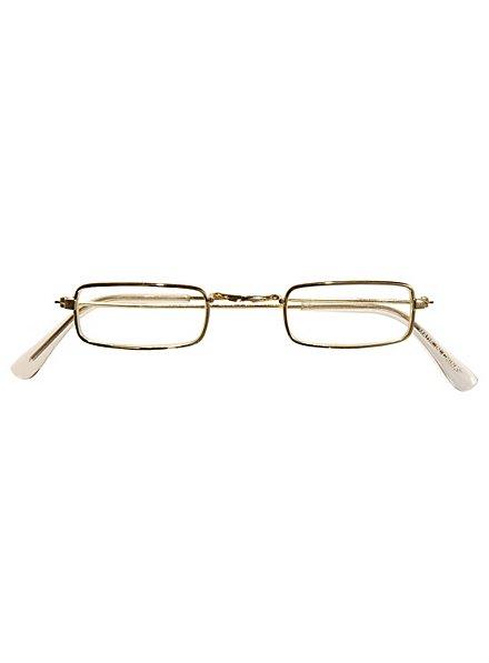 Fausses lunettes de vue dorées