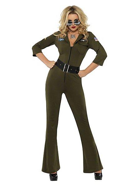 Femme pilote Top Gun Déguisement