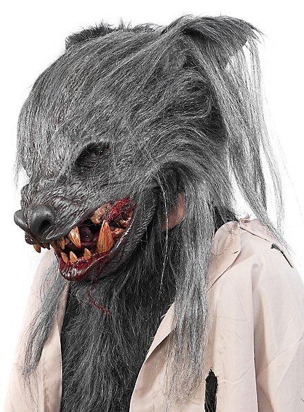 Feral Werewolf Mask grey