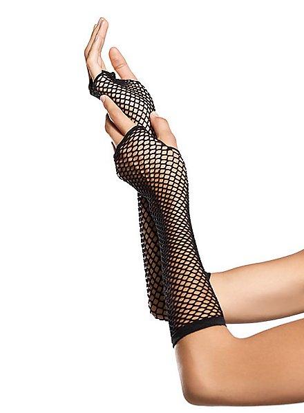 Fingerless Fishnet Gloves
