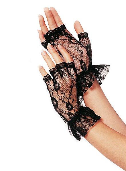 Fingerless Lace Mesh Gloves