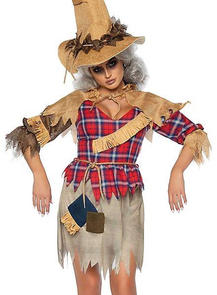 Finstere Vogelscheuche Kostüm für Frauen