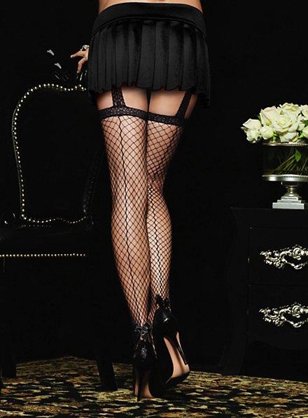 Fishnet Stockings with Garter Belt black