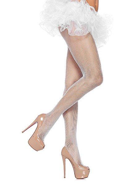 Fishnet tights white