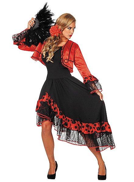 Flamenco dancer costume
