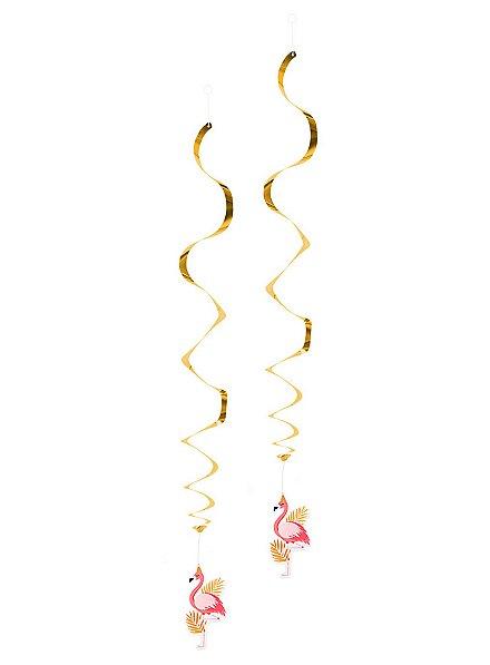 Flamingo  Dekospiralen 2 Stück