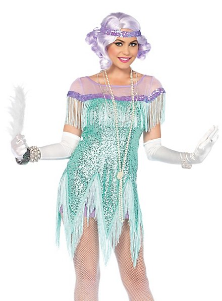 Flapper costume turquoise