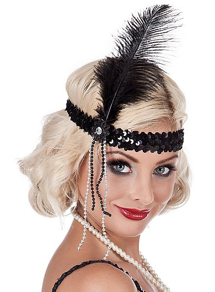 Flapper Feather Headband