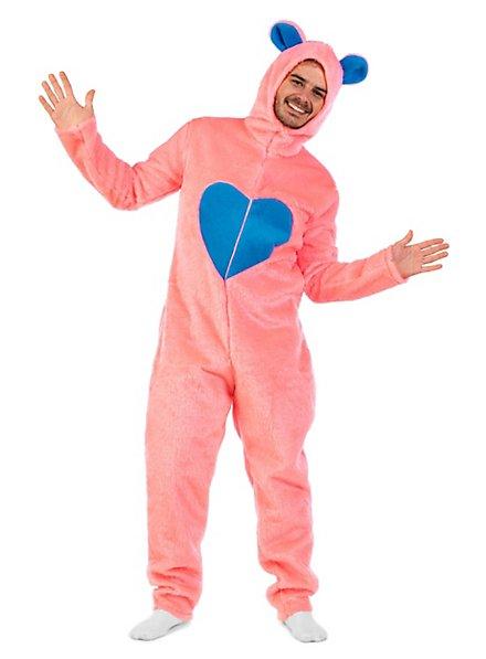 Plüschkostüm Flauschiger Bär pink
