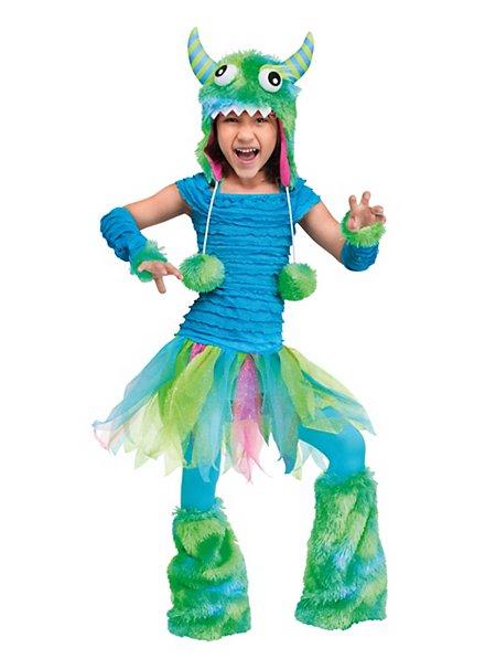 Flauschiges Grummel-Monster blau Kinderkostüm