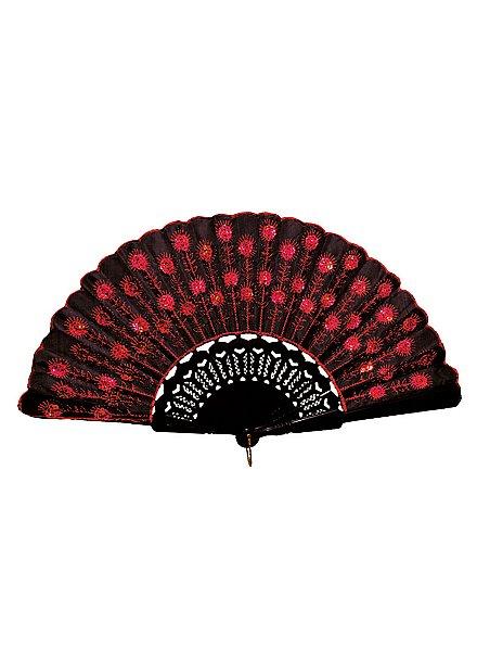 Flora Hand Fan red