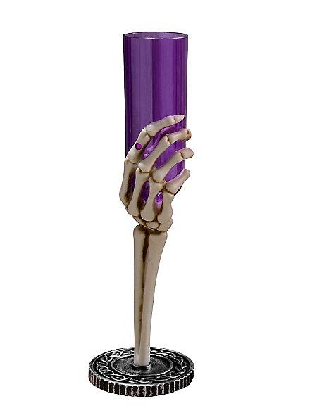 Flûte main de squelette violette