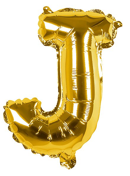 Folienballon Buchstabe J gold 36 cm