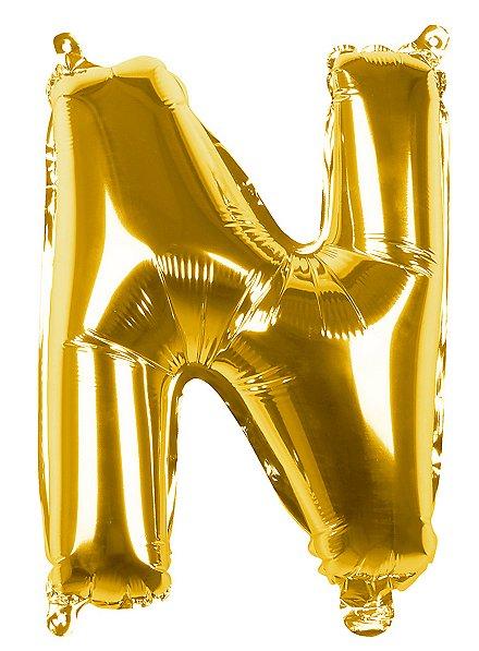 Folienballon Buchstabe N gold 36 cm