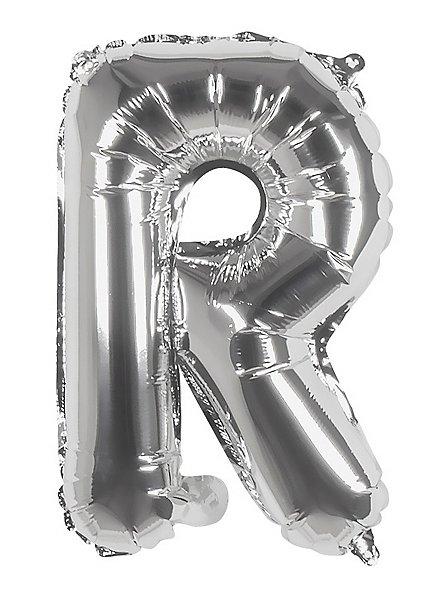 Folienballon Buchstabe R silber 36 cm
