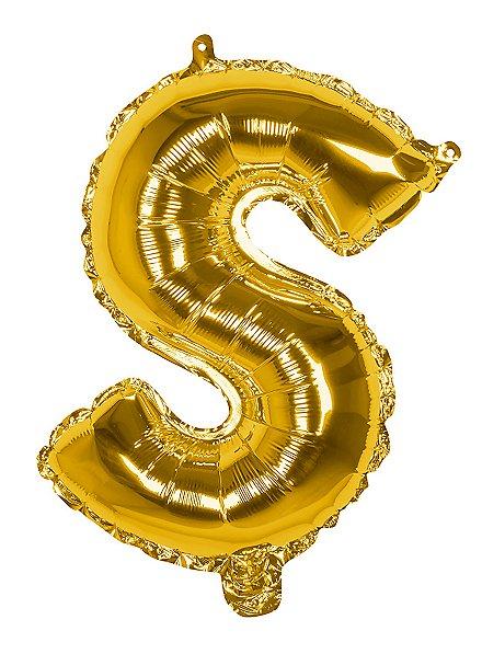 Folienballon Buchstabe S gold 36 cm
