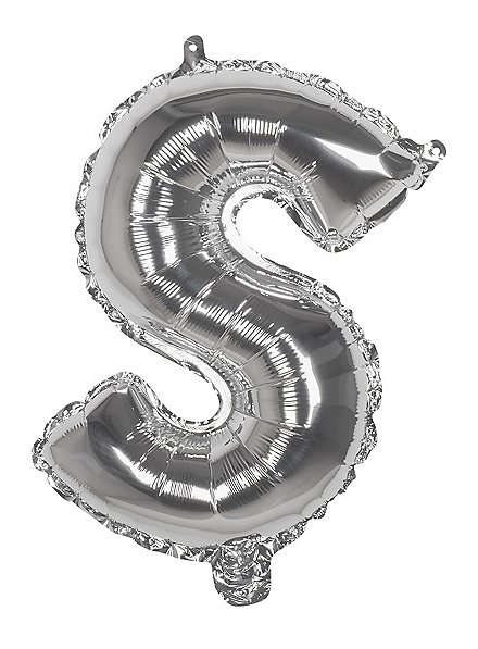 Folienballon Buchstabe S silber 36 cm