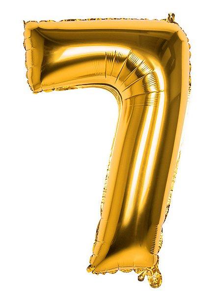 Folienballon Zahl 7 gold 86 cm