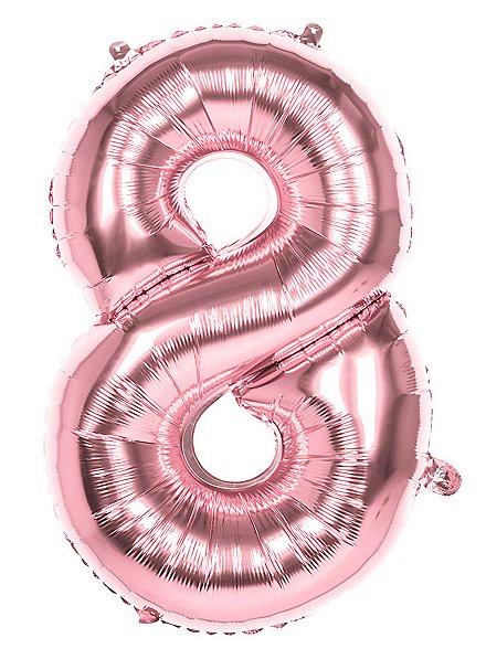 Folienballon Zahl 8 rosegold 86 cm