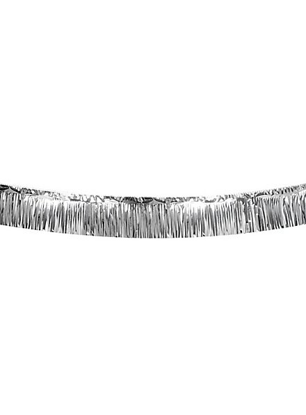 Fransengirlande 6 Meter silber