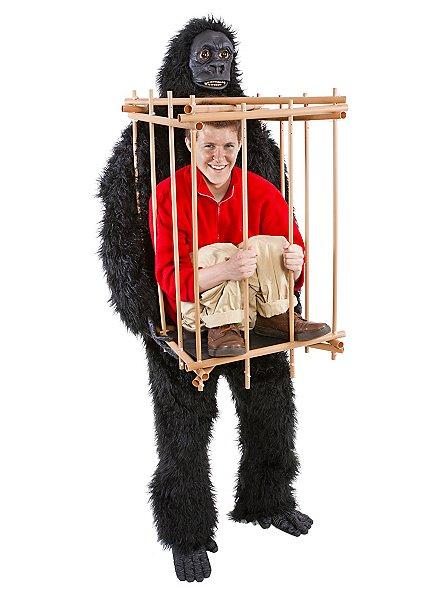 Fun Costume Gorilla with Cage