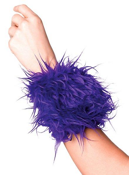 Furry Wrist Wallet blue