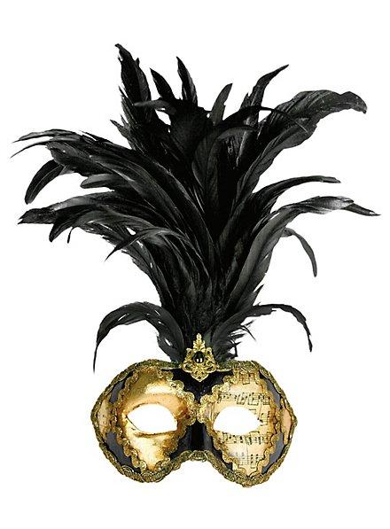 Galetto Colombina scacchi cuoio musica  - Venezianische Maske