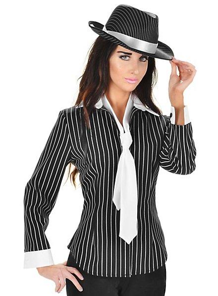 Gangster Bluse und Krawatte
