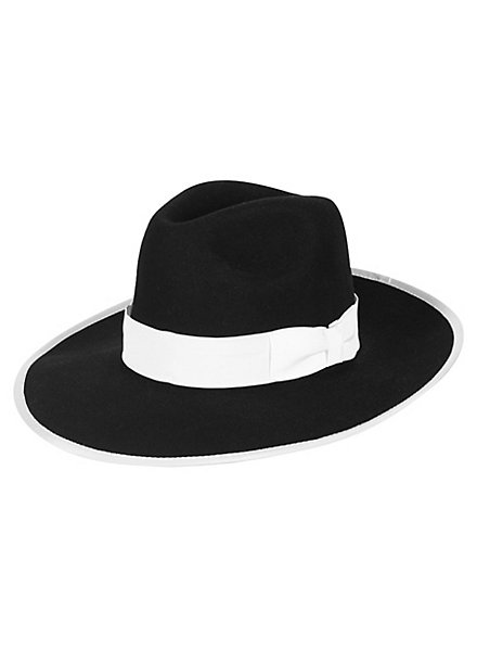 Gangster Hat with White Band