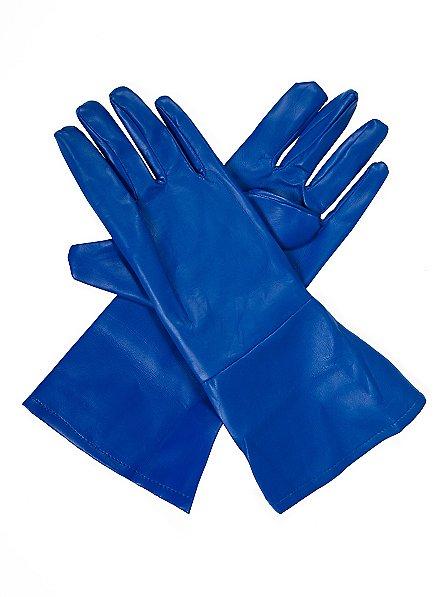 Gants de super-héros bleus