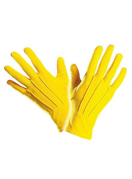 Gants en tissu jaunes