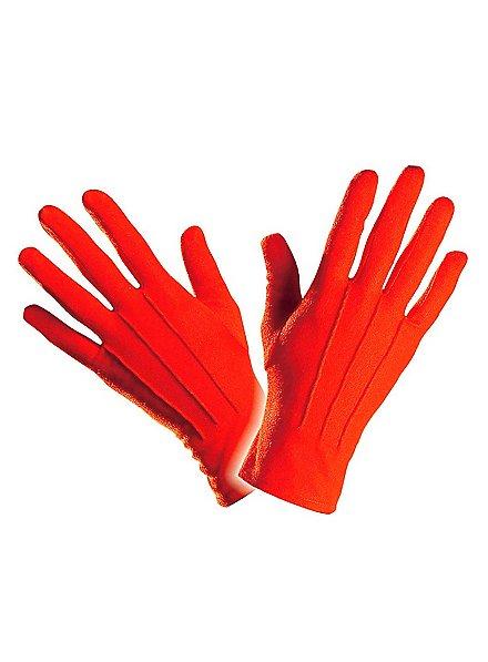 Gants en tissu rouges