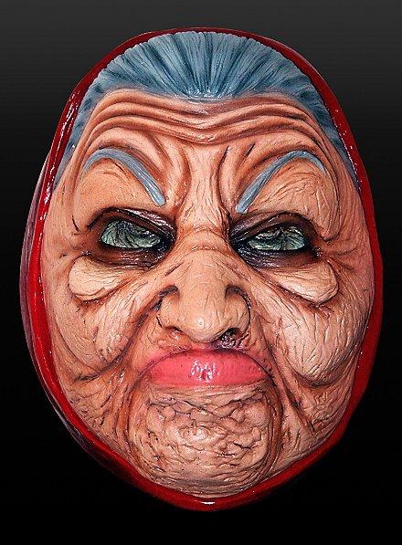 Garstige Oma Maske aus Latex