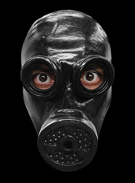 Gasmaske schwarz Maske des Grauens