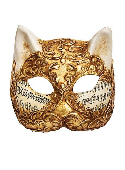 Gatto stucco oro musica