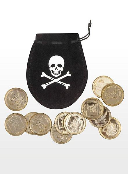 Geldbeutel mit Goldmünzen