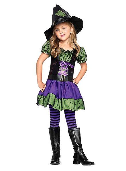 Gestreifte Strumpfhosen violett-schwarz für Kinder