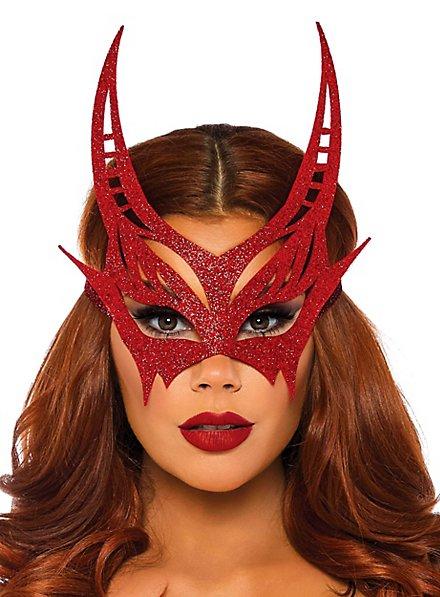 Glitter devil eye mask