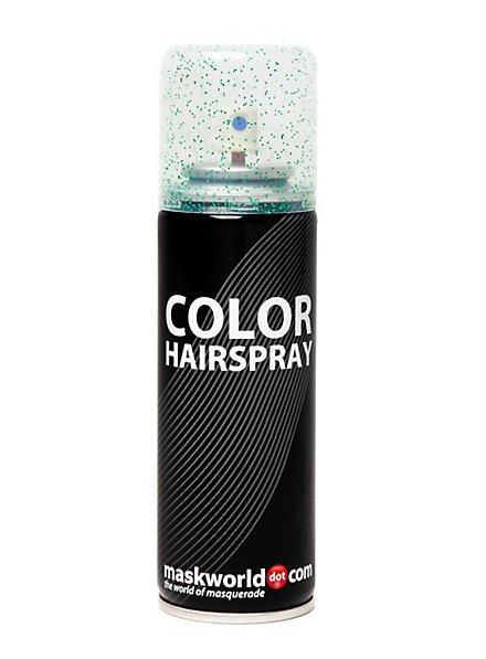 Glitterhaarspray grün