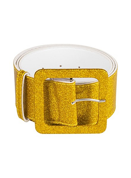 Glitzer Gürtel gold