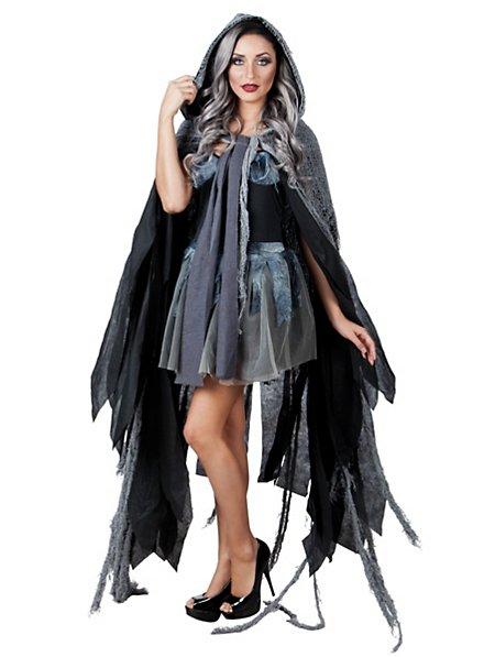 Gothic Cape grau-schwarz