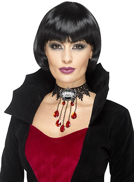 Gothic necklace with blood pearls