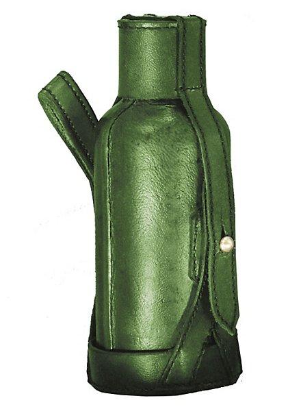 Gourde d'ambiance avec sacoche de ceinture verte