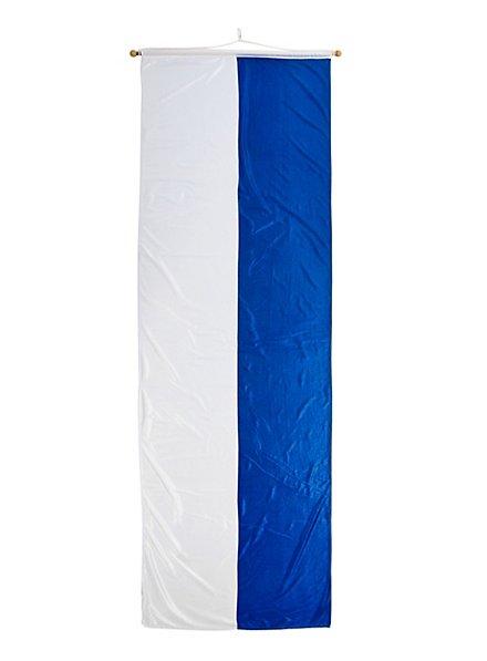 Grande bannière de Bavière blanche et bleue
