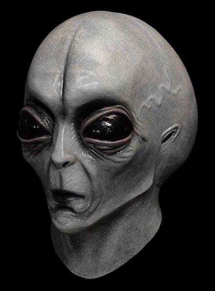 Grauer Alien Maske